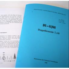 Zeiss NVA DF 7x40 copy of manual DV-41/68